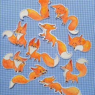 """Высечки для скрапбукинга """"Fox"""" (набор)"""