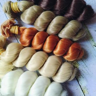 Волосы для кукол волнистые 5 цветов