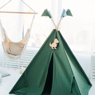 """Вигвам - Палатка для детей - для улицы и дома """"Динозавр Т-Рекс"""""""