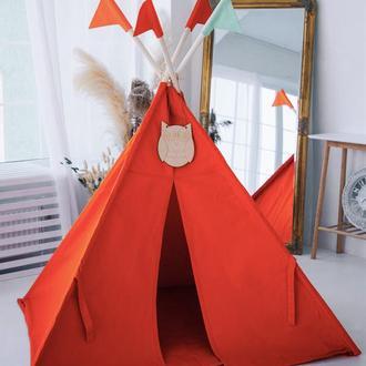 """Вигвам - Палатка для детей - для улицы и дома """"Умная сова"""""""