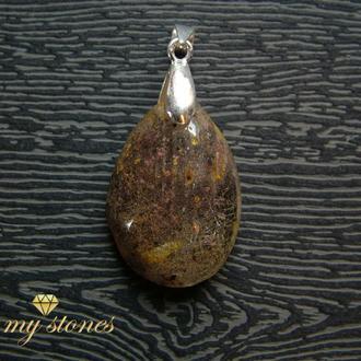 """Кулон из рутилового кварца и серебра 925 пробы """"Love stone"""""""
