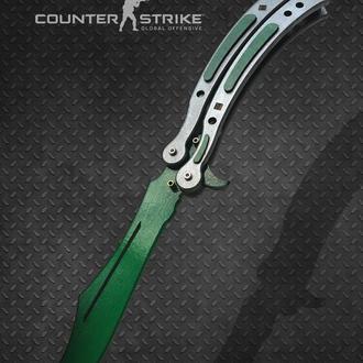 Нож Бабочка деревянный КС ГО Волны Фаза 3 CS GO Batterfly knife (Balisong) Doppler Phase 3