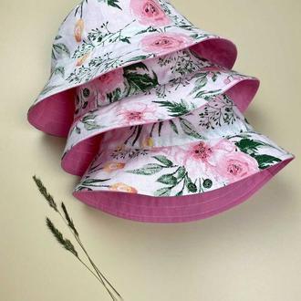 Розовая панамка для девочки