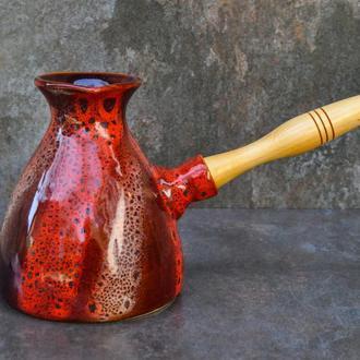 Турка керамічна велика декор Дзиґа