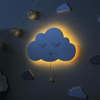 Ночник Облако в детскую. Светильник для детской. Декор для детской комнаты