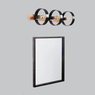 Светильник для ванной, зеркала черный