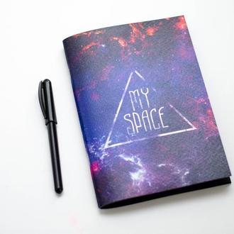 My space скетчбук с черными листами