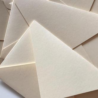 Конверт кольоровий в асортименті (pearl white)