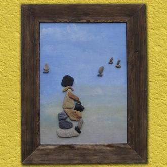 Авторская работа. Картина из камней. Одиночество