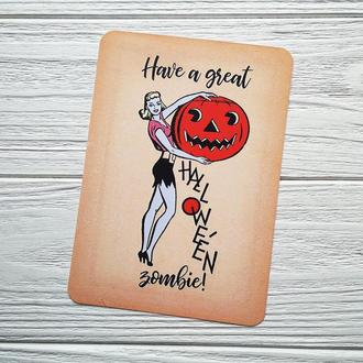 Have a good Halloween, zombie!