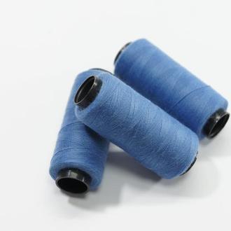 Нитки для шитья голубые 250 м
