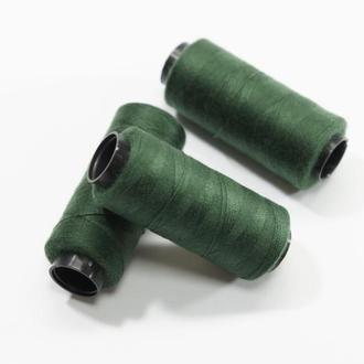 Нитки для шитья темно зеленые 250 м