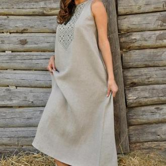 Женское вышитое платье П03/1-236
