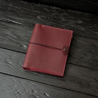 Кожаный блокнот с карманом