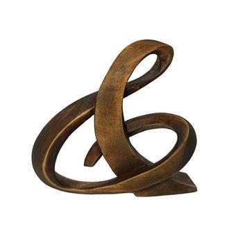 Скульптура буква ampersand 12 см, Скульптура модерн, ручна робота, деревяні статутетки, декор модерн