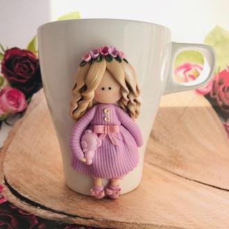 Чашка с декором «Цветочная фея»