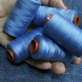 Нитки для джинсовых тканей васильковый 150 м