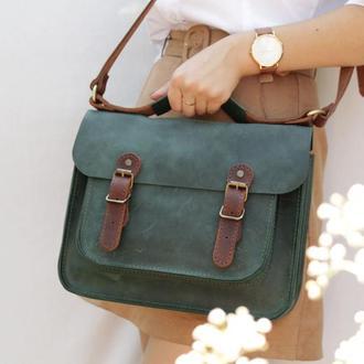Шкіряна сумка через плече-Шкіряна сумка жіноча