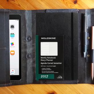 Органайзер шкіра, Moleskine Large A5, iPad Mini кожа