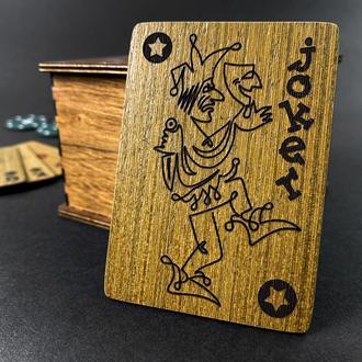 Подарункові Покерні карти з дерева. Обмежена кількість