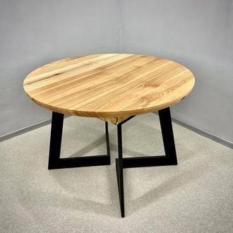 Раздвижной стол StarWood Ясень покрыт маслом-воском 110 см