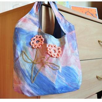 Текстильная летняя сумка, торба