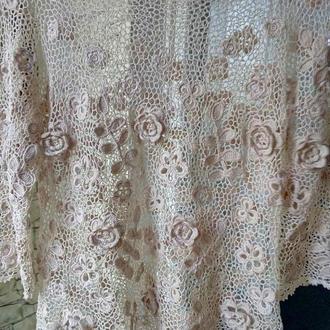 Ажурная блуза в стиле ирландского кружева ручной работы