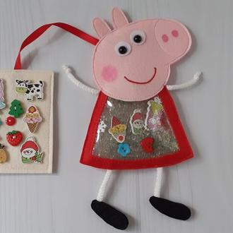 Игрушка искалка Свинка Пеппа из фетра