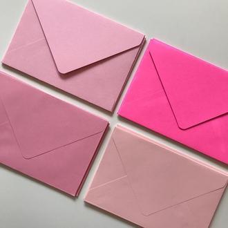 Конверт кольоровий в асортименті (pink)
