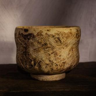 Ваби-саби чаван, тяван, традиционная японская чайная чаша, чаша для Матча, чаван для чая маття