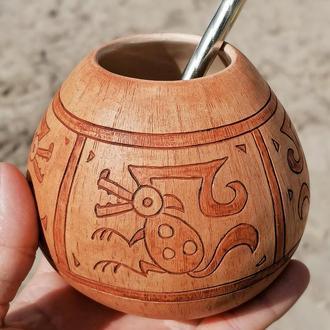 Калабас керамічний з перуанським мотивом