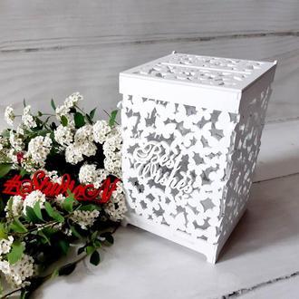 Шкатулка из бабочек для денежных даров 24х15х15 см′Best Wishes(Наилучшие пожелания)