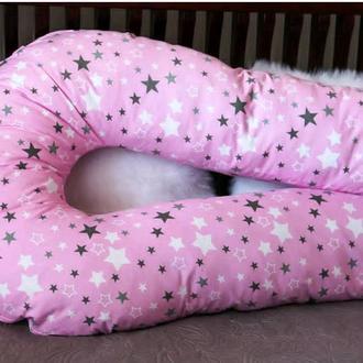 Подушка для беременных U-образная подушка обнимашка Подкова 160см бязь