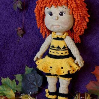 Кукла Куколка крючком Амигуруми Интерьерная / игровая игрушка Подарок девочке