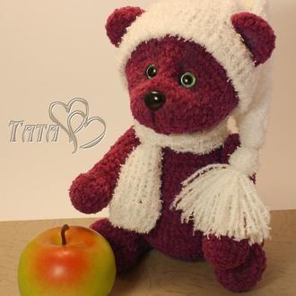 Мишка Медвежонок плюшевый крючком Амигуруми Интерьерная игровая игрушка Подарок