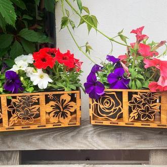 ящик для цветов, горшок для цветов, декор дома