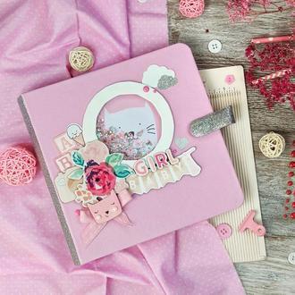 """Фотоальбом для девочки """"Baby"""" . Альбом для новорожденной"""