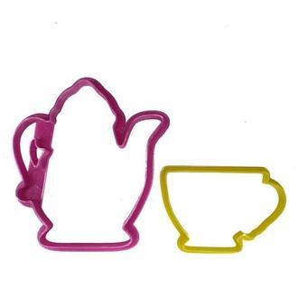 """3D формочки-вырубки для пряников """"Чайник и чашка"""""""