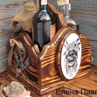 """Мини бар """"Пиратский"""", подарок мужчине, для рома, виски"""