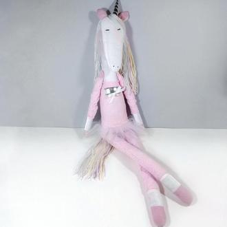 Большой белый единорог балерина Радужная лошадка Игрушка лошадь