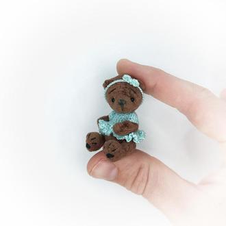 Плюшевый миниатюрный мишка