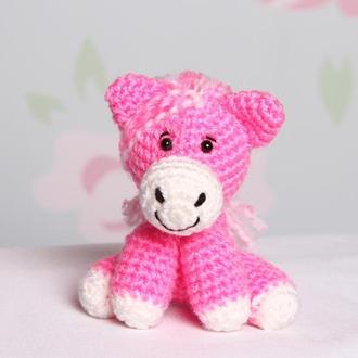 Лошадка принцесса розовая
