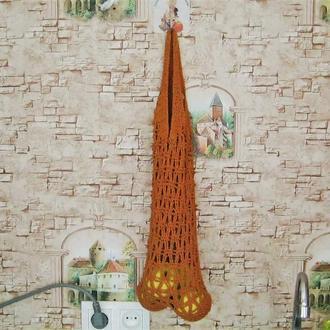 Фвоська. Многоразовая сумка для покупок связанная крючком
