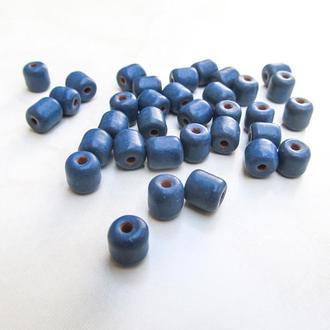 Намистини керамічні класика сині
