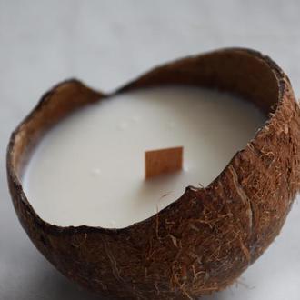 Coconut soy wax candle з древесним гнотом