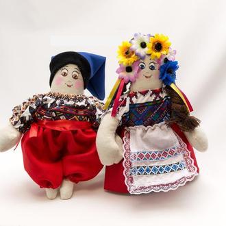 Кукла Украина , пара танцующая средняя.
