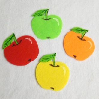 Нашивки с фетра яблуко