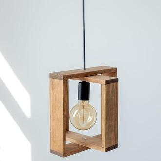 Лампа из дерева