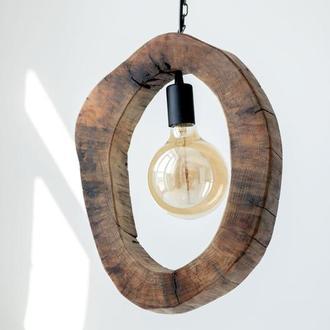 Лампа из спила дерева, лампа декоративная, оригинальная лампа