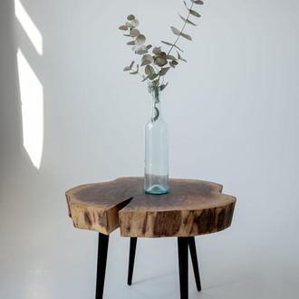 Стол из спила ореха, стол ручной работы, стол из дерева и эпоксидки, стол из эпоксидной смолы